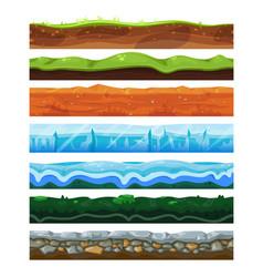 seamless land horizontal layers set geology vector image