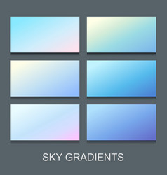 set blue lilac and violet gradients vector image