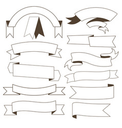 set of contour ribbons vector image