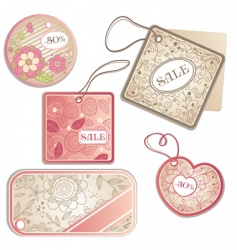set of discount tags vector image vector image