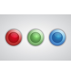 Set of glossy 3d buttons vector image