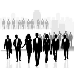 several business people teams vector image