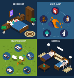 sleep time isometric design concept vector image