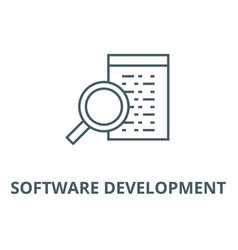 software development line icon linear vector image