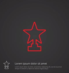 star outline symbol red on dark background logo vector image