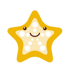 Starfish tropical kawaii character vector