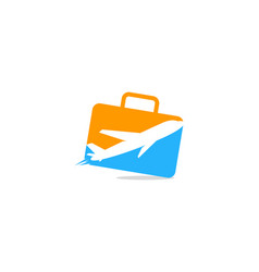 suitcase travel logo icon design vector image