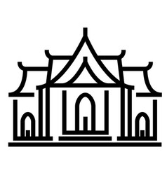 Temple line vector