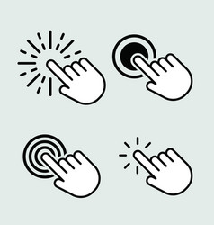 touch icons set isolated for graphic and web vector image