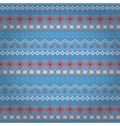 Tribal ethnic seamless stripe pattern on blue vector image vector image