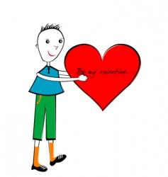 valentines day cartoon vector image