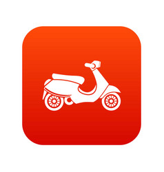 Vespa scooter icon digital red vector