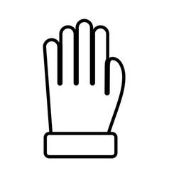 warm cloth glove mitten icon thick line vector image