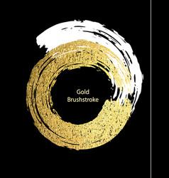 white and gold brushstroke design templates for vector image