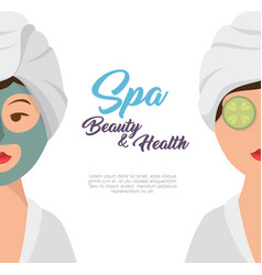 woman avatar on spa vector image
