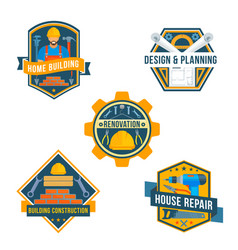 Work tools icons for house repair design vector
