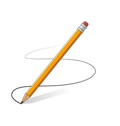 yellow pencils drawing line vector image