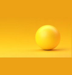 yellow sphere with shadow on yellow gradient vector image