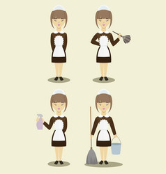 Young beautiful maids vector