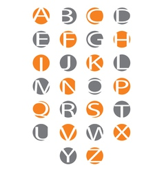Alphabet letters carved in the circle vector image