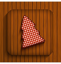 christmas wooden app Eps10 vector image vector image