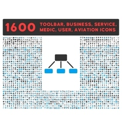Hierarchy Icon with Large Pictogram Collection vector image vector image