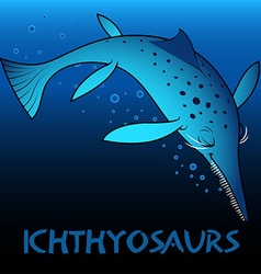 Ichthyosaurs cute character dinosaurs vector image vector image