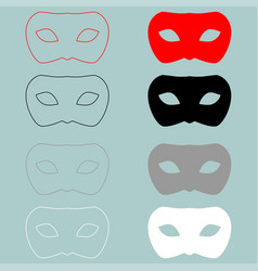 Man mask or guise red black icon man mask or vector