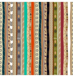 Seamless ethnic pattern with animals vector image vector image