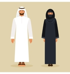 The Arabs in the national costume vector image vector image