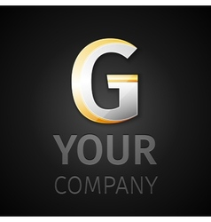 abstract logo letter G vector image