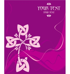 card with a Celtic cross vector image vector image