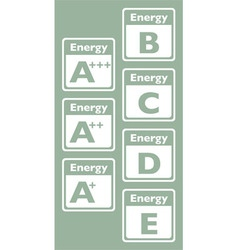 Energy tags vector image