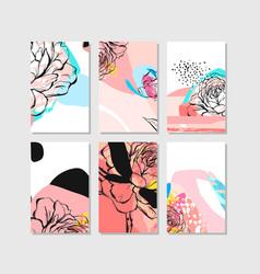 hand drawn abstract creative unusual save vector image