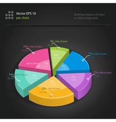 infographics pie chart vector image vector image