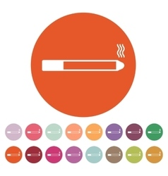 The smoking icon Cigarette symbol Flat vector image