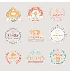 Vintage Retro Bakery BadgesLabels logos Bread vector image