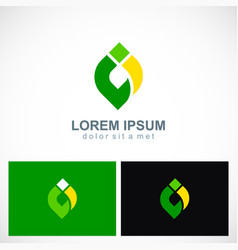Abstract shape colored eco logo vector