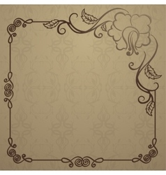 beautiful background with vintage cover vector image