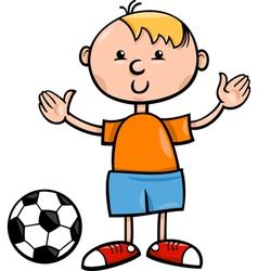 boy with ball cartoon vector image