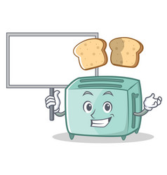 bring board toaster character cartoon style vector image vector image
