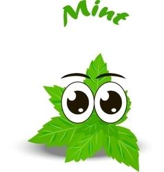 Fresh mint leaves vector