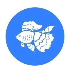 Gold fish icon black singe aquarium fish icon vector
