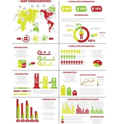 INFOGRAPHIC DEMOGRAPHICS POPULATION 3 SECOND vector image