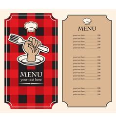 menu hand vector image vector image