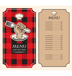 menu hand vector image