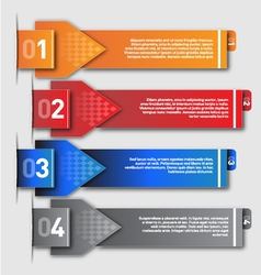 Modern design template- numbered vector image