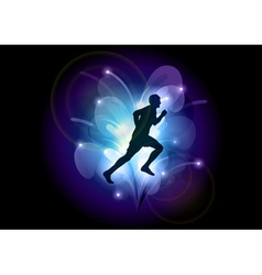 abstract sport blue vector image