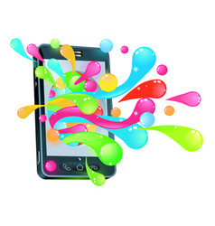 cell phone jelly bubble concept vector image vector image