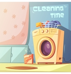 Cleaning Time vector image